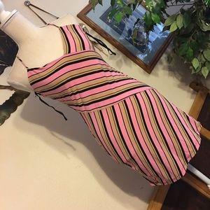 Glam tunic stripe cami halter NWOT M